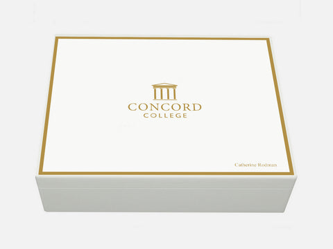 Concord College School Memory Wood Box - A4 Box - Personalised