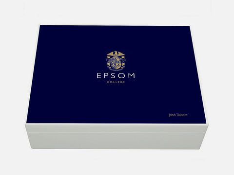 Personalised Epsom College School Memory Wood Box - A4 Box