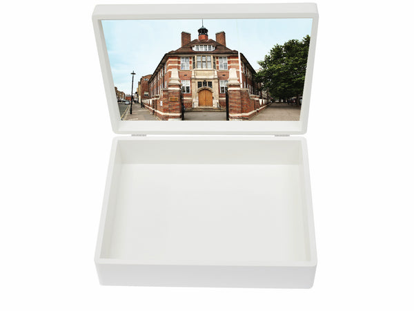 Francis Holland Regents Park School Memory Wood Box - A4 box - Personalised