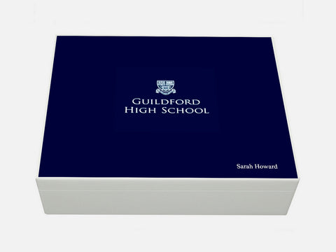 Guildford High School Memory Wood Box - A4 box - Personalised