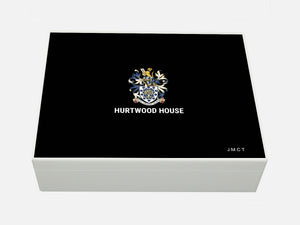 Hurtwood House School Memory Wood Box - A4 box - Personalised