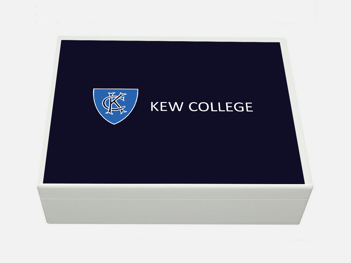 Kew College School Memory Wood Box - A4 box - Personalised