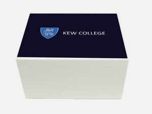 Kew College School Memory Wood Box - A4 Chest - Personalised