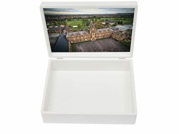 Kings College Taunton School Memory Wood Box  - A4 Box - Personalised