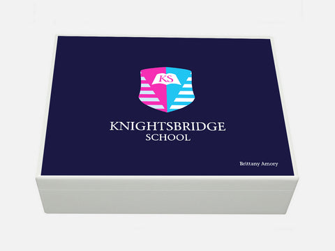 Knightsbridge School Memory Wood Box - A4 box - Personalised
