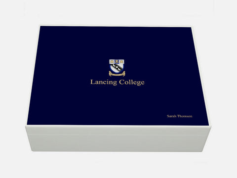 Lancing College School Memory Wood Box - A4 box - Personalised