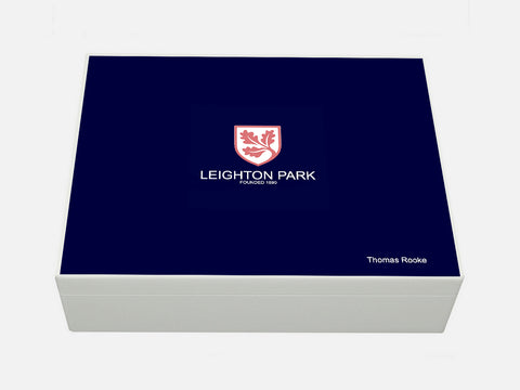 Leighton Park School Memory Wood Box - A4 box - Personalised