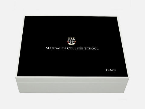 Magdalen College School Memory Wood Box - A4 box - Personalised