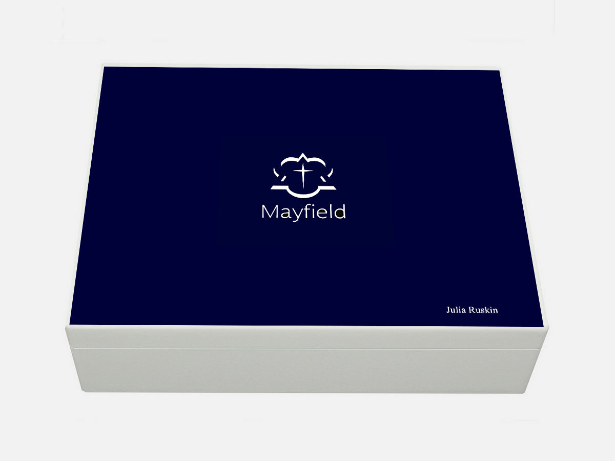 Mayfield School Memory Wood Box - A4 box - Personalised