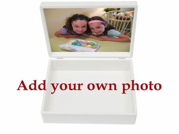 Westbourne House School Memory Wood Box - A4 box - Personalised - White