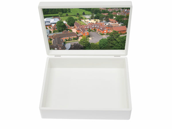 St Catherines Bramley School Memory Wood Box - A4 box - Personalised