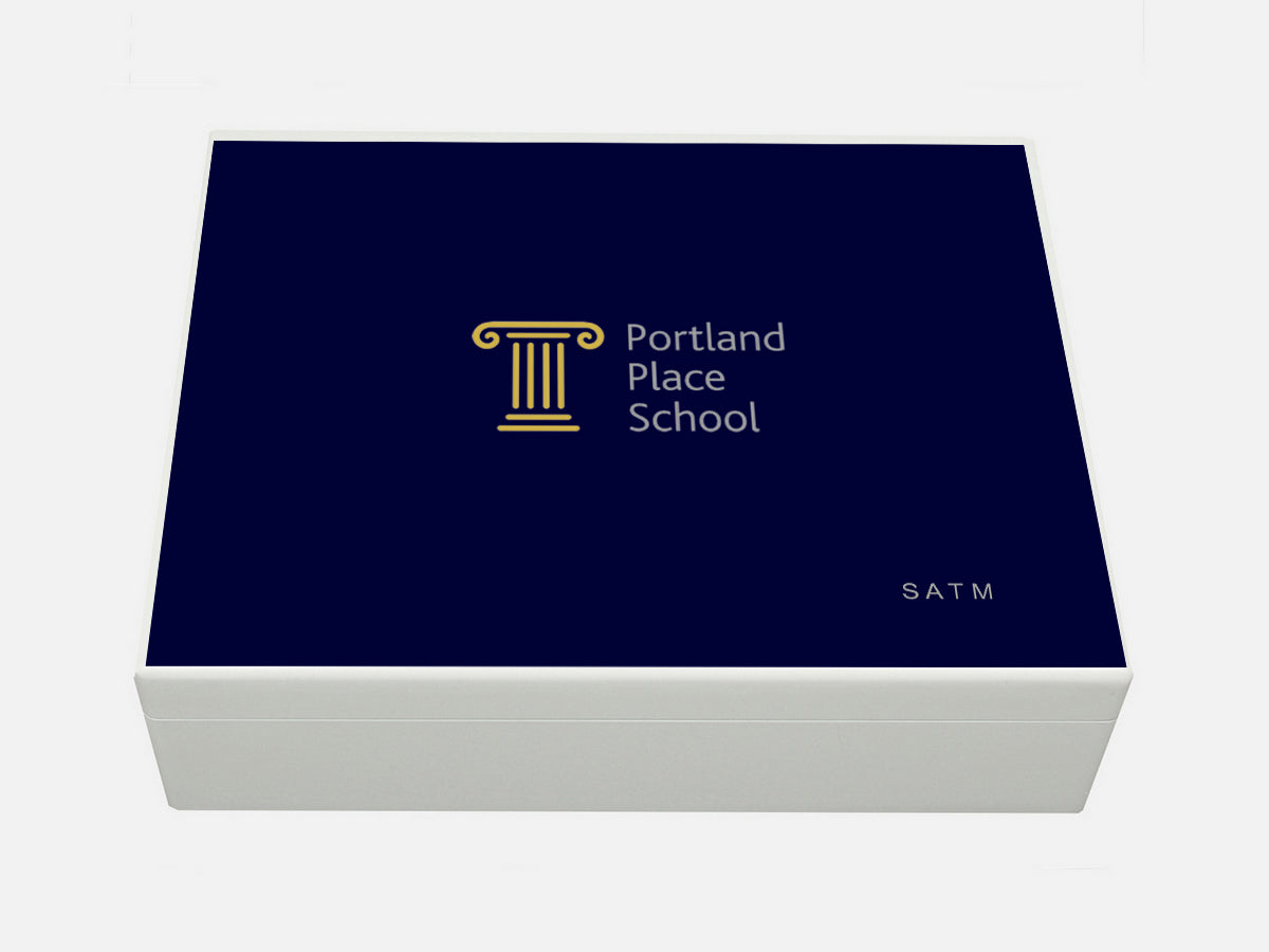 Portland Place School Memory Wood Box - A4 box - Personalised