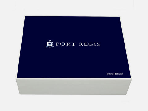 Port Regis School Memory Wood Box - A4 box - Personalised