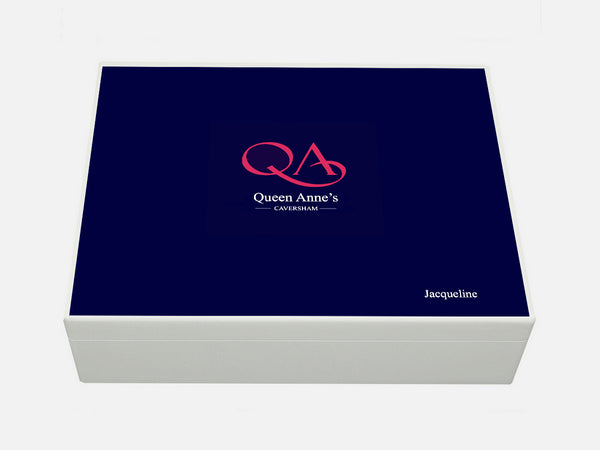 Queen Anne's School Memory Wood Box - A4 box - Personalised