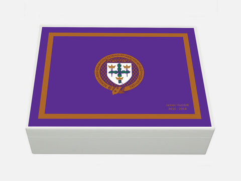 Royal Colchester Grammar School Memory Wood Box - A4 box - Personalised