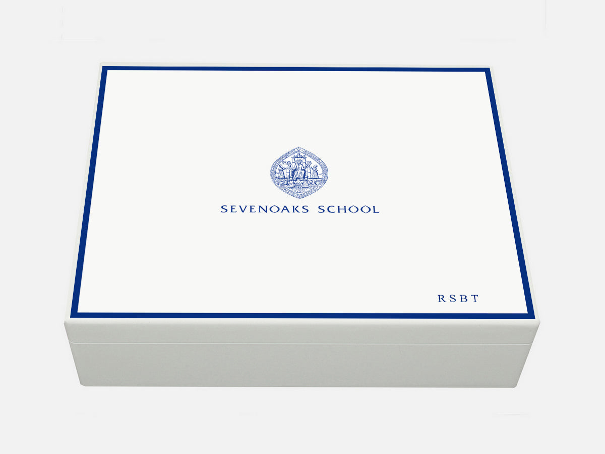 Sevenoaks School Memory Wood Box - A4 box - Personalised