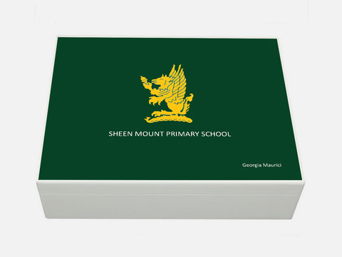 Sheen Mount School Memory Wood Box - A4 box - Personalised