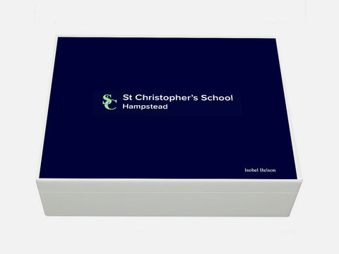 St Christophers Hampstead Girls School Memory Wood Box - A4 box - Personalised