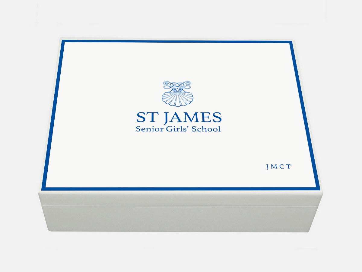 St James Girls Senior School Memory Wood Box - A4 box - Personalised