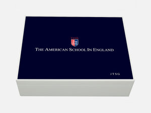 TASIS American School in England School Memory Wood Box - A4 box - Personalised