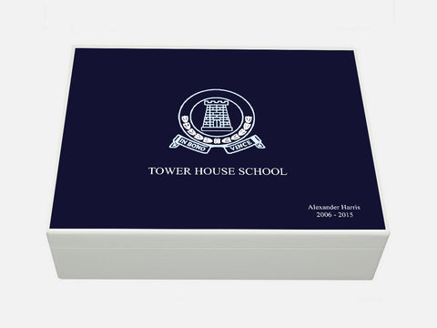 Tower House School Memory Wood Box - A4 box - Personalised