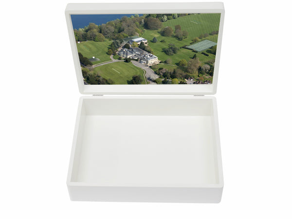 Westbourne House School Memory Wood Box - A4 box - Personalised - Black Top