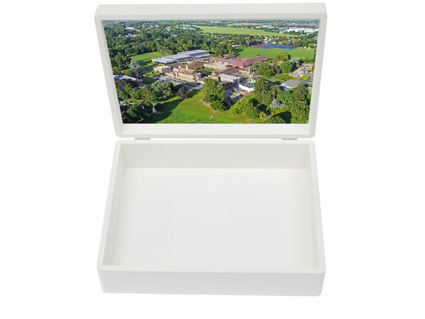 Whitgift School Memory Wood Box - A4 box - Personalised - White