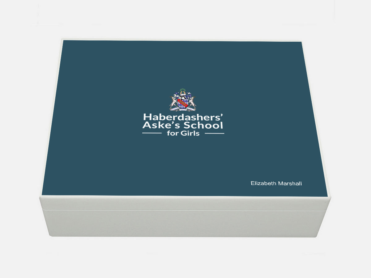 Haberdasher Aske's Girls' School Memory Wood Box - A4 box - Personalised