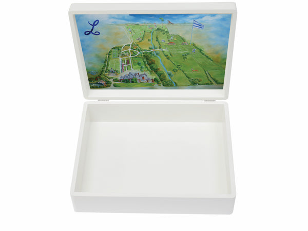 Ludgrove School Memory Wood Box - A4 box - Personalised