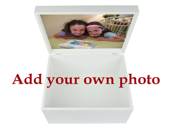 Kensington Prep School Memory Wood Box - A4 Chest - Red top - Personalised