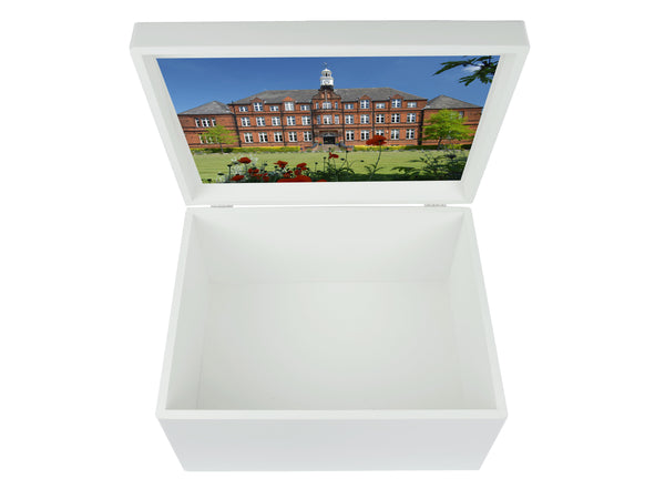 Alleyn's School Memory Wood Box - A4 Chest - Personalised