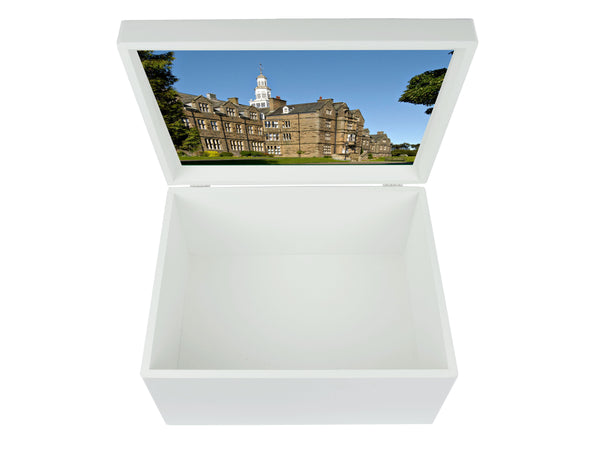 Barnard Castle School Memory Wood Box - A4 Chest - Personalised