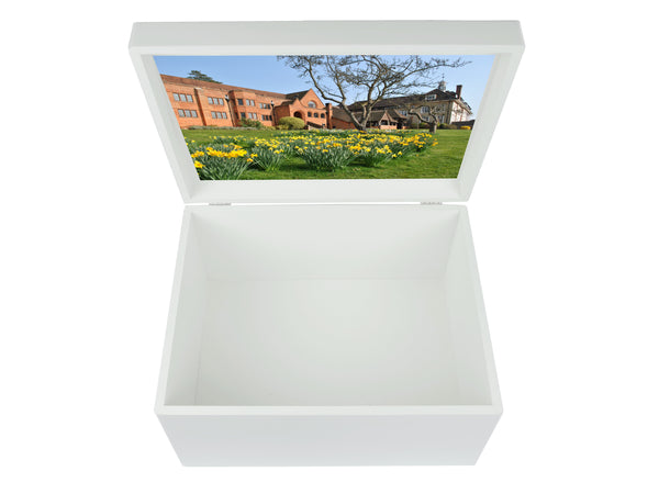 Bedales School Memory Wood Box - A4 Chest - Personalised