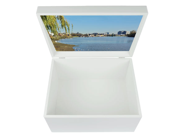 Latymer Upper School Memory Wood Box - A4 Chest - Photo Box - Personalised