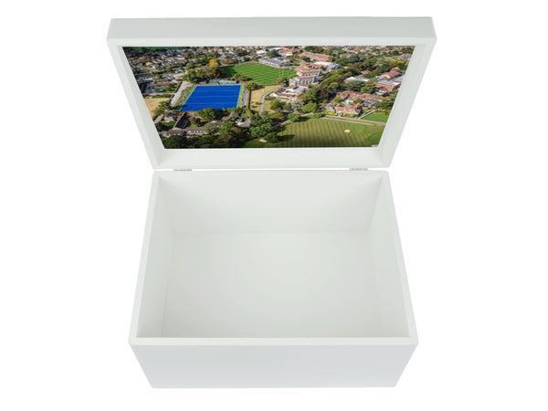 Millfield School Memory Wood Box - A4 Chest - Personalised