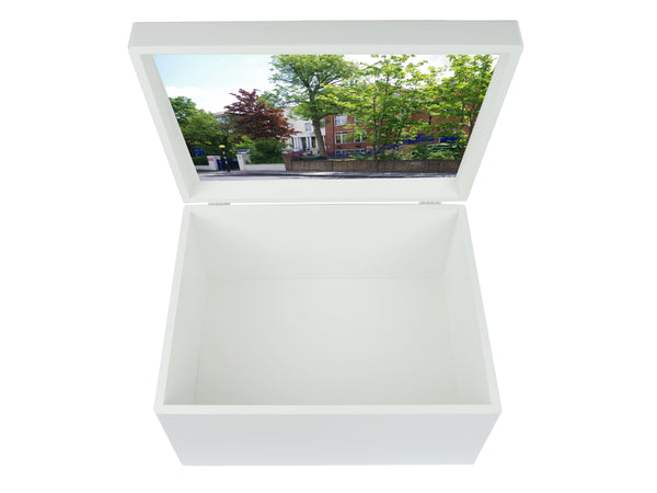 Notting Hill & Ealing School Memory Wood Box - A4 Chest - Personalised
