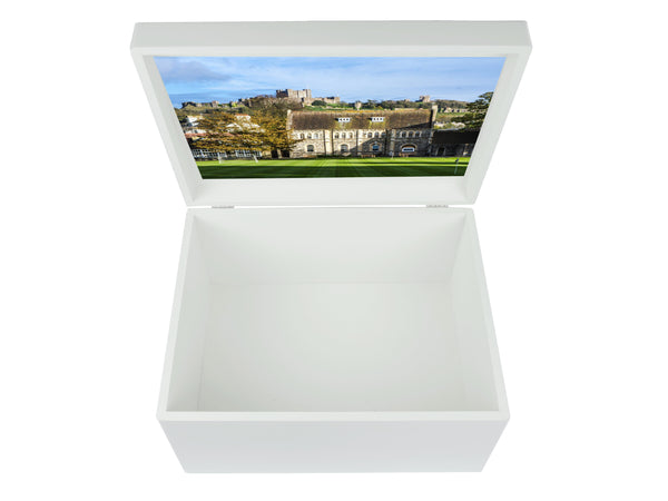 Dover College School Memory Wood Box - A4 Chest - Personalised