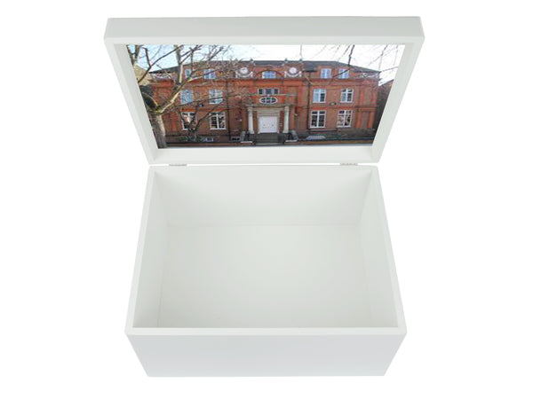 Hall School Memory Wood Box - A4 Chest - Personalised