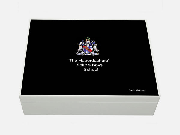 Haberdasher Aske's Boys' School Memory Wood Box - A4 box - Personalised