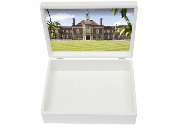 Headington School Memory Wood Box - A4 box - Personalised