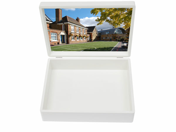 Hornsby House School Memory Wood Box - A4 box - Personalised