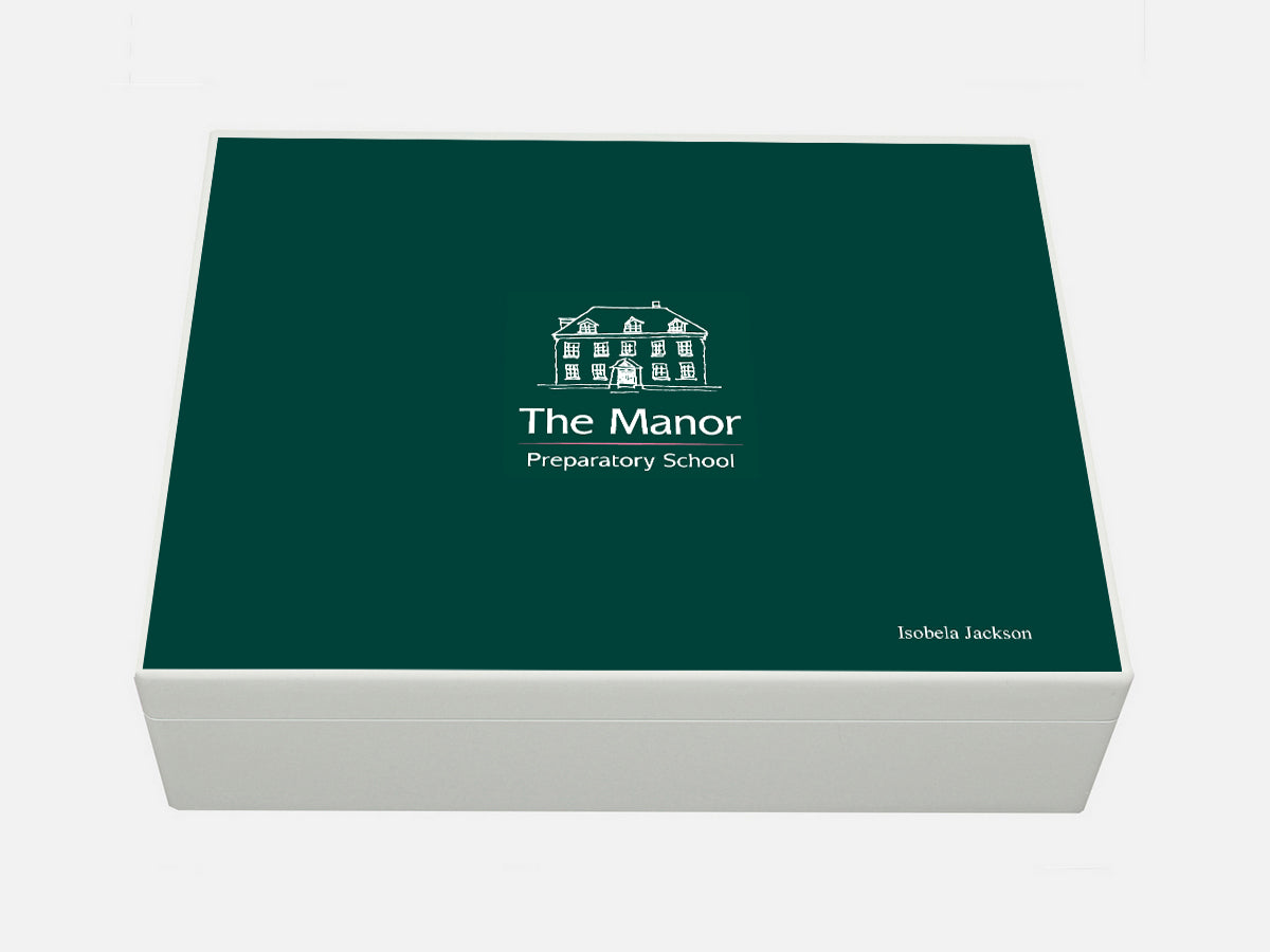 Manor House Prep School Memory Wood Box - A4 box - Personalised