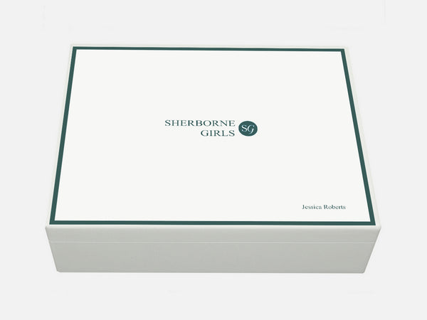 Sherborne Girls School Memory Wood Box - A4 box - White - Personalised