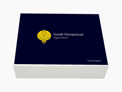 South Hampstead High School Memory Wood Box - A4 box - Personalised