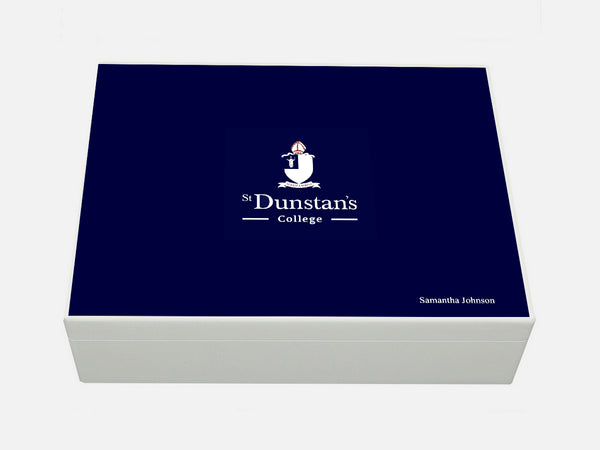 St Dunstan's College School Memory Wood Box - A4 box - Personalised