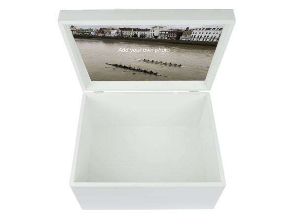 St Paul's School (Junior & Senior School) Memory Wood Box - A4 Chest - White - Personalised