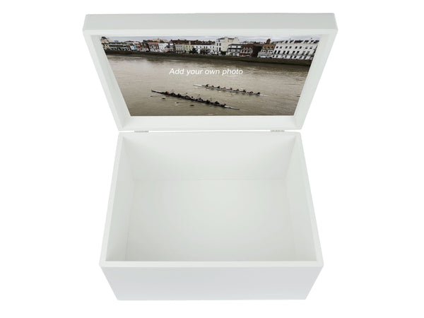 Dolphin School Memory Wood Box - A4 Chest - Personalised