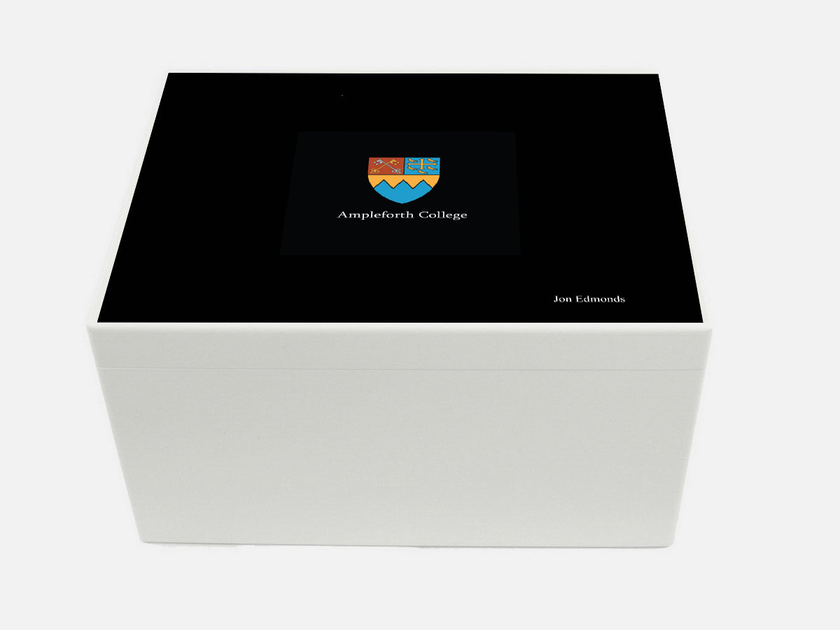 Ampleforth College School Memory Wood Box - A4 Chest - Personalised