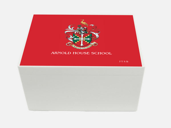 Arnold House School Memory Wood Box - A4 Chest - Personalised