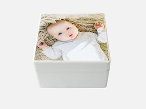 Create a Baby Keepsake box | Photo Box | White Medium Box